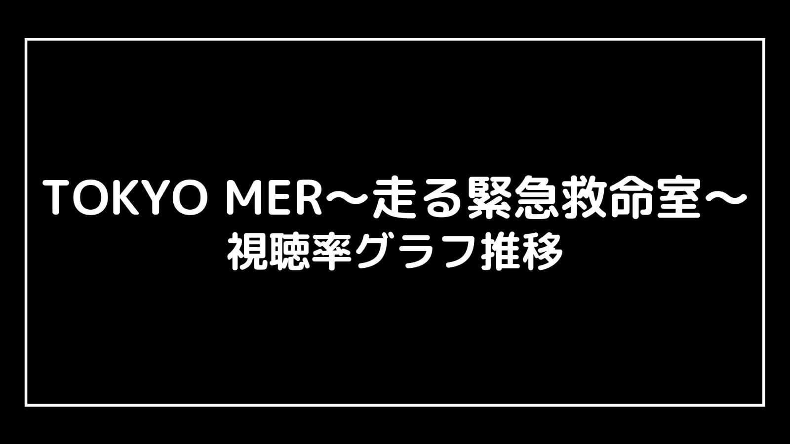 『TOKYO MER〜走る緊急救命室〜』現在の視聴率速報と最終回までのグラフ推移